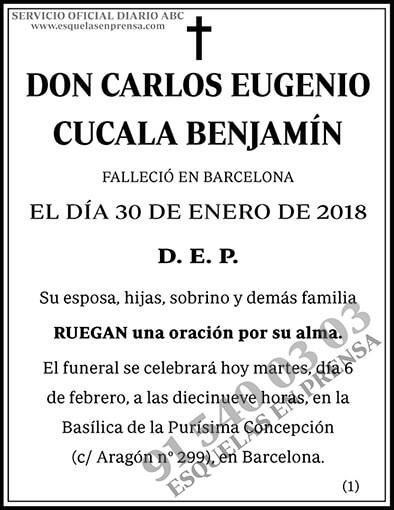 Carlos Eugenio Cucala Benjamín